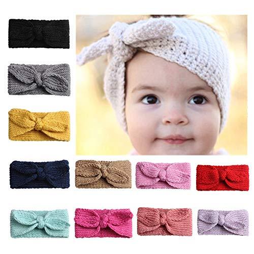 Easy Go Shopping Bandeaux de Boutons bébé garçon Fille Bande de Cheveux nouée (Couleur : Green+Pink+Red)