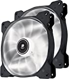 Corsair CO-9050035-WW Air Series SP140 LED 140mm  Low Noise High Pressure LED Fan Dual Pack, White