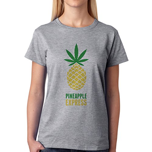 Pineapple Express Simple Minimal Art Essence Of The Idea Damen T-Shirt Grau