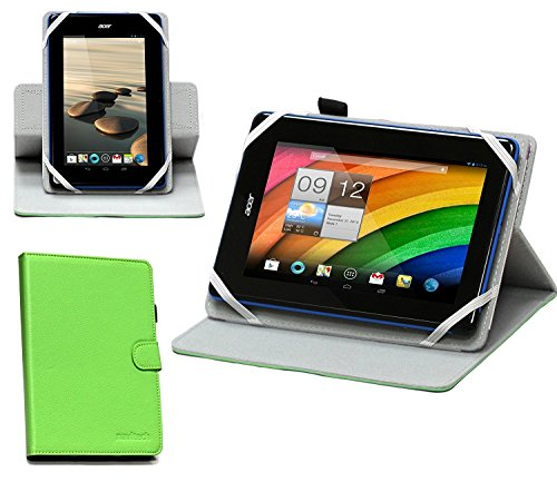 Navitech Schutzhülle für NPOLE Tablet 16 GB 1 GB IPS 7 Zoll Android Quad Core, 360 Grad drehbar, Grün