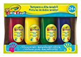 CRAYOLA Mini Kids Set 4 Tempere a Dita, Lavabile, età 24 Mesi, per Asilo e Tempo Libero, Colori Assortiti, Multicolore, 3239