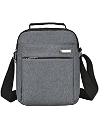 LQZ Men Stylish Durable Canvas Crossbody Sling Bag For Office Travel College