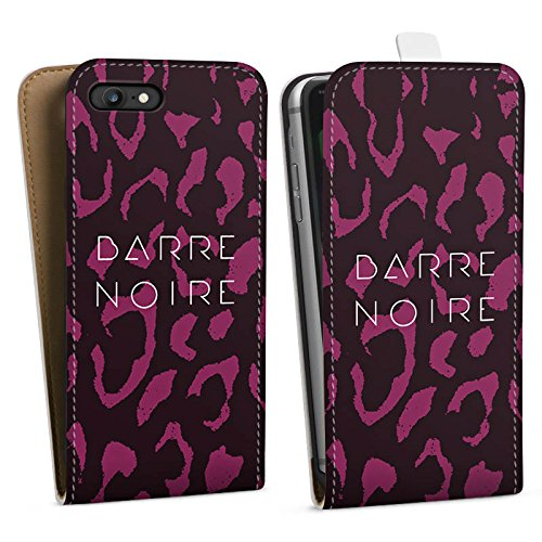 Apple iPhone X Silikon Hülle Case Schutzhülle BARRE NOIRE Fashion Leopard Downflip Tasche weiß