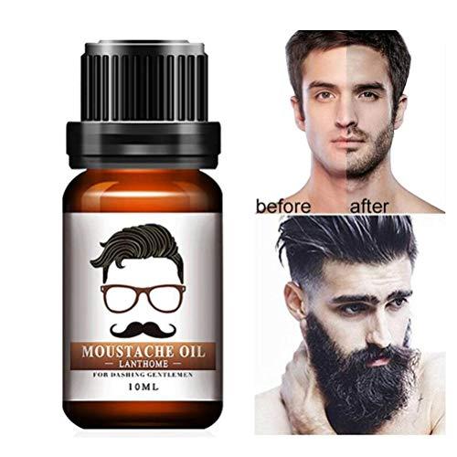 Bart Wachstums Öl für Männer - 10ml Bartöl ätherisches befeuchtendes natürliches Männer-Bart Wesentliches Schnurrbart-Pflege-Bart-Öl-Wachstum für Männer