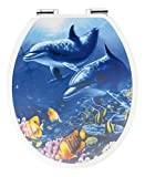 Sitzplatz 40123 4 Toilet Seat with Soft-Closing Comfort with 3D Dolphins Motif