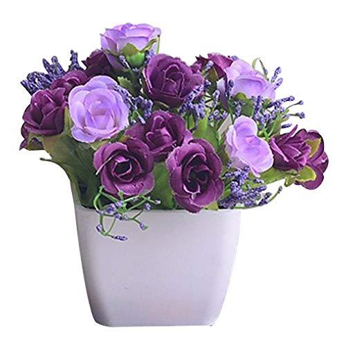 Unechte Blumen,Künstliche Blume Deko Blumen Gefälschte Blumen Kleine Blume Home Dekor Braut Hochzeitsblumenstrauß Für Haus Garten Party Blumenschmuck Restaurantdekoration Von Sommer's Laden