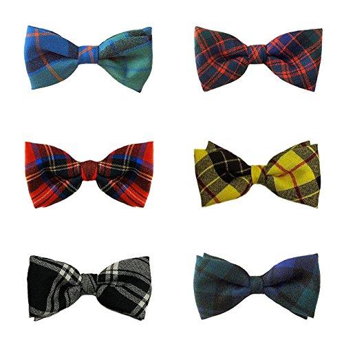 Ingles Buchan Mens Tartan 100% Wool Pre-Tied Bow Ties