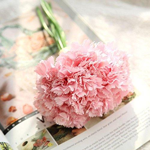 Longra Wohnaccessoires & Deko Künstliche Kunstblumen Nelken blumige Hochzeit Bouquet Braut Hortensie Dekor Blume