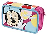 Trousse 3 zip Minnie Mouse Auguri Preziosi 3 plans 3 charnières Triple Couleurs