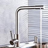 évier bol sans plomb cuisine robinet en acier inoxydable toilettes robinet fil chaud et le froid peut être tourné