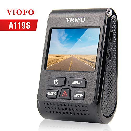 Viofo A119S Full HD 1080p auto Dash Cam super Night Vision telecamera con GPS Logger