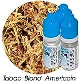 MA POTION - Lot de 3 E-Liquide TABAC Blond Américain, Eliquide Français Ma Potion, recharge cigarette électronique. Sans nicotine ni tabac