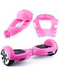 """Funda Protectora Carcasa de Silicona para 6.5"""" Patinete Eléctrico Auto Equilibrio Scooter (rosado)"""