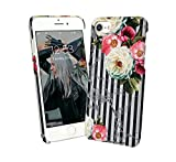 Graphic Marble With Flowers iPhone 7 iPhone 8 Schutzhülle aus Hartplastik Hard Plastic Handy Hülle Fashion Stylish Pho