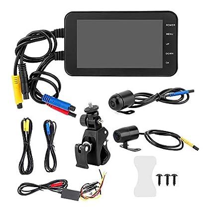 Dash-Cam-fr-Motorrad-1080P-4-Zoll-Touchscreen-Wasserdicht-WiFi-GPS-G-Sensor-Bewegungserkennung-Front-und-Rckfahrkamera-Videorekorder-Parkmonitor-Wiederaufladbar