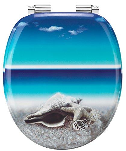 Cornat WC-Sitz Dekor SNAIL BLUE / Toilettensitz / Toilettendeckel / Klodeckel / WC-Deckel / Absenkautomatik / Holzkern (MDF) / KSDSC534