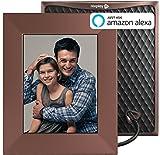 NIXPLAY Iris Marco Digital WiFi de Fotos y Videos 8 Pulgadas. Conexión a Redes Sociales. Web y Móvil App. 10 GB Nube Gratis. Portafotos Digital con Sensor de Sonido. Color: Bronce. W08E
