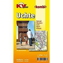 Uchte: 1:12.500 Samtgemeindeplan mit Hausnummernverzeichnis inkl. Freizeitkarte 1:25.000 mit Radrouten (KVplan Mittelweser-Region / http://www.kv-plan.de/Mittelweser.html)