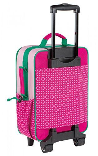 Lässig stabiler Kinder Reisekoffer/Kindertrolley mit separatem Schuh-/Wäschebeutel, Crocodile granny pink