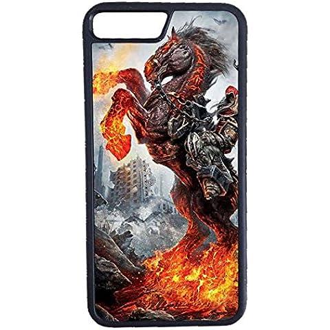 Custodia iPhone 7, Case Cover per iPhone 7 Unicorn Horse Cartoon - Alluminio Horse Head