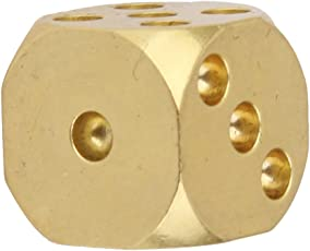 Generic 13mm Solid Brass Dice 6-Side Spot with Round Corner