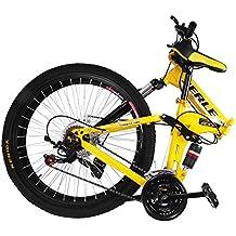 Happybuy Bicicletta Montagna Shimano De Alluminio Mountainbike 26