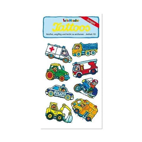 Baustelle & Bagger Tattoos von Lutz Mauder // Kinder Kindertattoo Tatoo Tatto Kindergeburtstag Geburtstag Mitgebsel Geschenk Auto Autos Feuerwehr Feuerwehrauto Baustelle