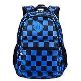 Termichy Leichter Kinder Jugendliche Jungen Schulrucksack Mode Plaid Rucksack Tasche große Kapazität Reise Backpack Lässig Daypack für Schule Outdoor Freizeit