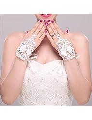 DELLT- Bridal Lace Wrist Ribbon Coréen Rendezvous Accessoires De Mariage Ensemble Court Accessoires Mariage Gants Blancs
