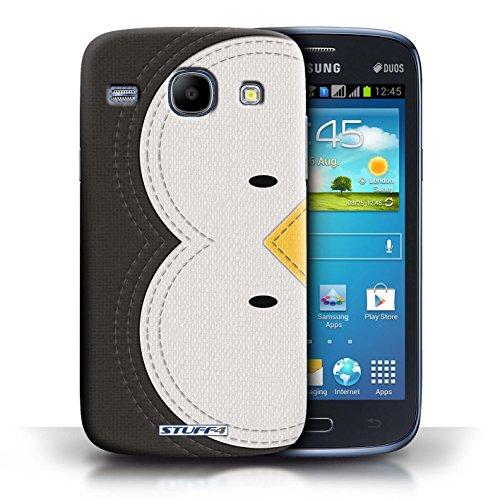 Coque en plastique pour Samsung Galaxy Core Collection Cousu des Animaux Effet - Chien Manchot