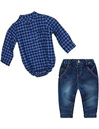 Conjunto Bebé 2 Piezas Camisa Jeans, Vaqueros