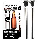 Cool one–Enfriador de cerveza bebida refrigeración Sticks–mantener su cervezas frío ya. Regalo único de día del padre regalos para Papá. (Set de 2disipadores)
