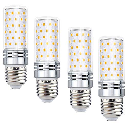 2W Warmeiß 3000K 220V Leuchtmittel 1200Lumen Entspricht zu 120W Glühbirne 360° Ausstrahlwinkel Mais Lampe Kein Flimmern Kandelaber für Garage Lagerhaus (4 Stück, Nicht Dimmbar) ()