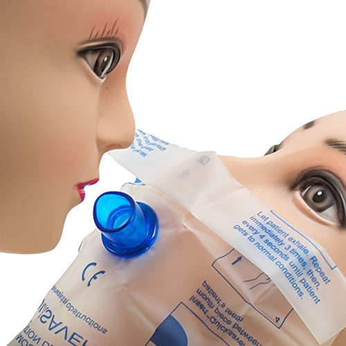 ZHENWOFC Wiederbelebungs-Mund-zu-Mund-Atemschutzmaske (CPR) Gesichtsschutzmaske mit Einwegventil Hardware-Ersatzteile -
