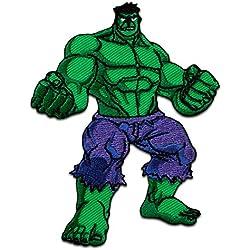 Toppe termoadesive - AVENGERS Hulk comico bambini -verde - 7x9cm - Patch Toppa ricamate Applicazioni Ricamata da cucire adesive