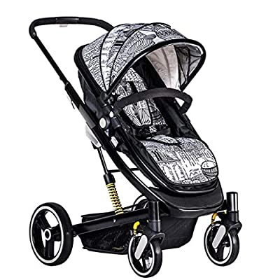 Baby Stroller High Landscape Stroller Can Sit Reclining Stroller Baby Light Folding Shock Absorber Baby Stroller (Color : MULTI, Size : COLORED)