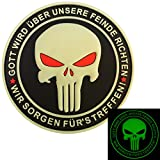 2AFTER1 Punisher Gott Wird Über Unsere Feinde Richten God Will Judge Our Enemies Navy Seals PVC 3D Hook-and-Loop Pa