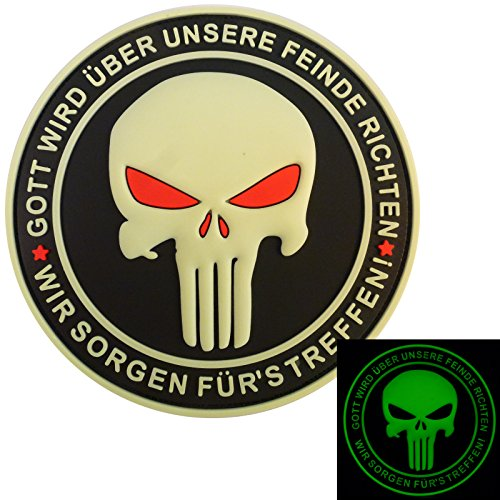 Punisher Gott Wird Über Unsere Feinde Richten God Will Judge Our Enemies Navy Seals PVC 3D Hook&Loop Pa