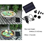 SIEGES 1.8W Solar Power Panel Submersible Water Pump Kits for Lawn Garden Pond Fountain Pool Water Cycle , Pond Fountain… 12