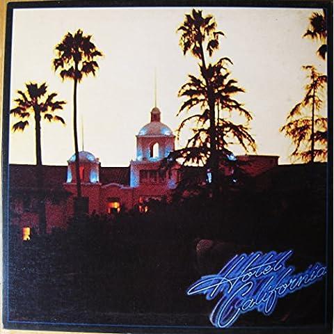 EAGLES, Hotel California With rare poster. Featuring Joe Walsh, Don Henley, Glenn Frey. First UK pressing 1976. Asylum