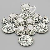 Odoria 1/12 Miniatur Geschirr 15 Stück Porzellan Pflaumenblüte Teeservice Set Für Puppenhaus Küche Zubehör -