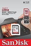 SanDisk Ultra SDHC I 16 GB bis zu 80 /Sek, Class 10 Speicherkarte  [Frustfreie Verpackung]