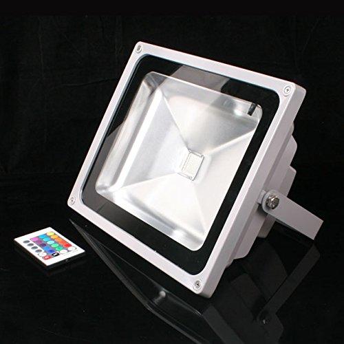 Grüne Innen-reflektor Flutlicht Lampe ([mia.home®]10/20/30/50W LED Strahler RGB + IR-Fernbedienung Ausschalten Memory +Akku NB29 (30W RGB 224161))