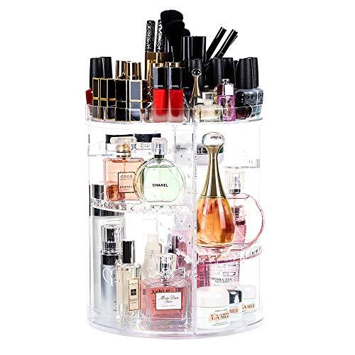 Lilebox 360 Grad drehbarer Make-up-Organizer, 360 Grad verstellbar, für Schmuck, Pinsel, Lippenstifte und Cremes, 8 Ebenen, kristallklar -