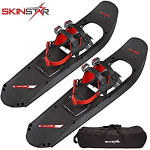 SkinStar Schneeschuh 25 INCH Schneeschuhwandern Schneeschuhe bis 100 kg Black