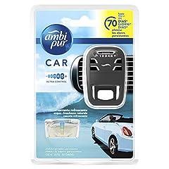 Idea Regalo - Ambi Pur Car Deodorante per Auto Acqua Freschezza Naturale Starter Kit e ricarica