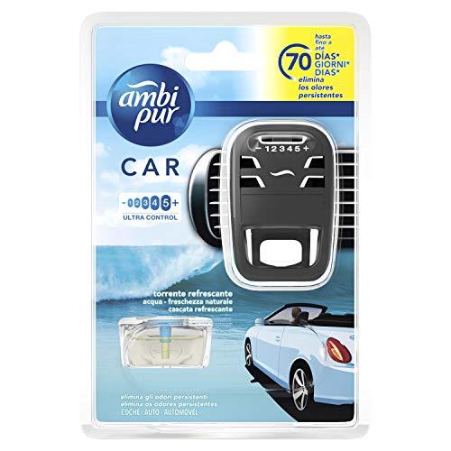 Ambi Pur Car Deodorante per Auto Acqua Freschezza Naturale Starter Kit