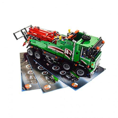 Preisvergleich Produktbild 1 x Lego Technic Set Modell Traffic 42008 Service Truck Technik Auto grün mit BA geprüft unvollständig