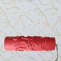GTS Rodillo De Gofrado, Rodillo De Goma De Barro De Diatomea Rodillo De Barro Rojo De Diatomea Rodillo De Herramienta Texturado De Rodillo De Película De Pared Con Textura Siete Pulgadas GHJ