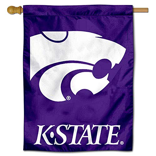 College Flags and Banners Co. Kansas State University Wildkatzen House Flagge Kansas State University